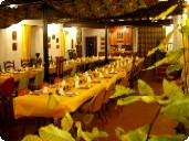 Fontaines d'Escot - The dining room ready for a birthday celebration.