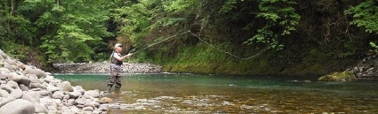 Fontaines d'Escot is a fishing paradise with wild trouts and salmons